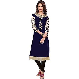 Self Design, Embroidered Womens Kurti