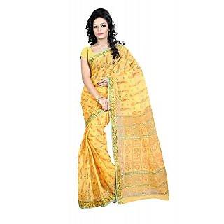 Fashionoma Printed, Self Design Gadwal Cotton Sari