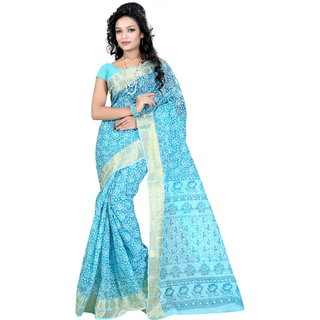 Fashionoma Printed, Self Design Gadwal Cotton Sari
