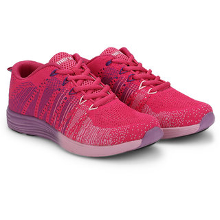 Admiral Women's Pink & Purple Sports Shoes