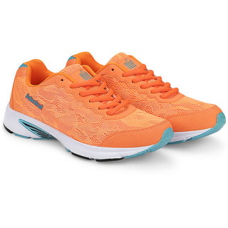 Admiral Women's Orange & Turquoise Sports Shoes