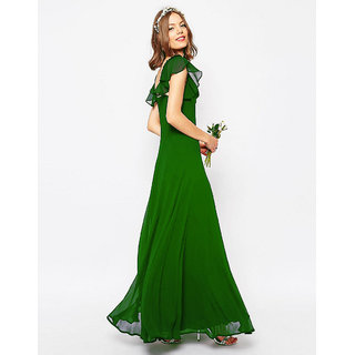 Xniva Womens Maxi Green Dress