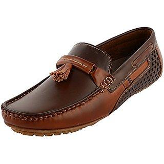 London Edge Men Mocassins Shoes-0023 BR TAN-1