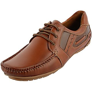 London Edge Men Synthetic Casual Shoes-0016 TAN-1