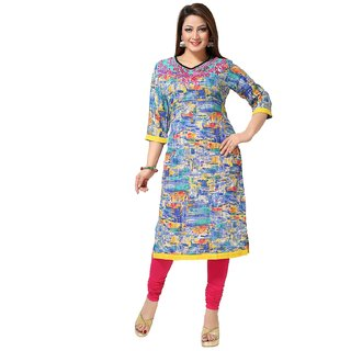 ARCH Multicolor Printed Cotton Casual Kurti For Women