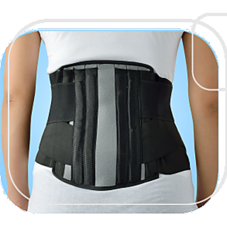 Dyna ELNOVA Surgical Lumbo Sacral Corset Black- Medium