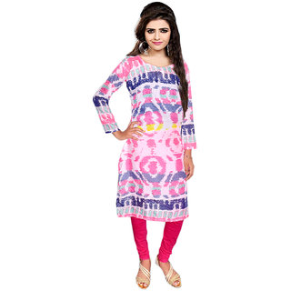 Nakoda Multicolor Printed Polyester Unstitched Kurti