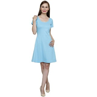 Rampwalk Womens Fit and Flare Poly Cotton Skater Dress