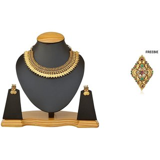 The Pari Gold Plated Multi Alloy Jewellery Combo For Women