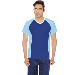 Sportee Mens Blue V-neck T - Shirt