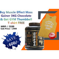 COMBO PACK Muscle Effect Ultimate Mass Gainer 3KG CHOCOLATE