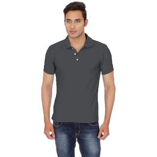 Chakravarthi Mens Grey Polo T - Shirt