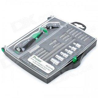 SD-2314M25 In 1 Reversible RatchetScrewdriver W/Bits SocketsSet