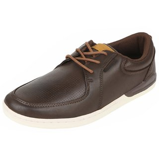 Fsports MenS Tan Casual Lace Up Shoes