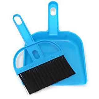 Ezzideals Mini Portable Plastic Dustpan Computer Keyboard Handle Brush Set Soft Cleaning Sweeper Hand Kitchen Dust Pan