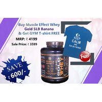 COMBO PACK Muscle Effect Ultimate Gold Whey 5LB Banana