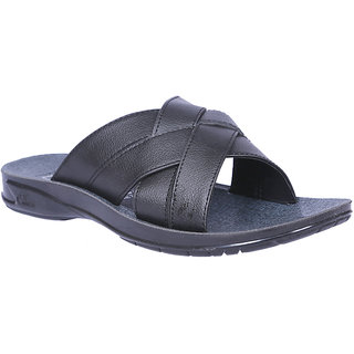 Allen Cooper Black Casual Slipper