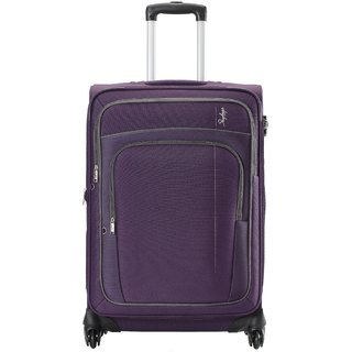 Skybags Large (Above 70 cms) Purple Polyester 4 Wheels Trolley