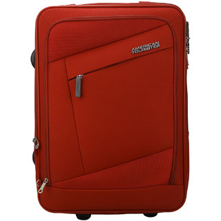 Buy American Tourister Small (Below 60 Cms) Red Fabric 4 Wheels ... 2d7698589