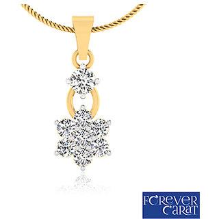 0.44ct Natural Diamonds Daisy Bud Pendant 925 Sterling Silver Pendant P-0021