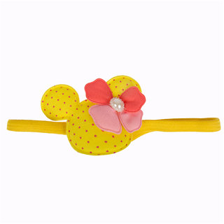 Disney Micky Mouse Yellow Elastic Hair Band For Kids