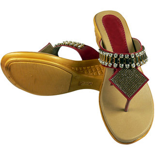 Maayas Women KBSS 05 Red Sandal