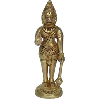 Blessing Lord Hanuman Brass Statue