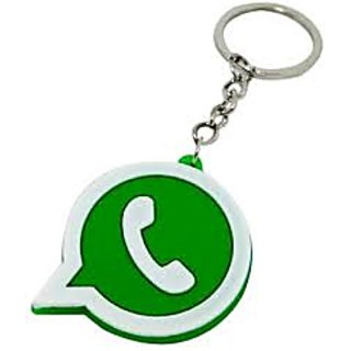 6pcs Whatsapp Icon Shaped Rubber Keychain