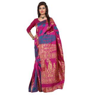 Indi Wardrobe Handloom Stylish Party Wear Fancy Wowen Classy Banarasi Silk Saree