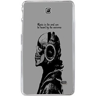 Casotec Music Design 2D Hard Back Case Cover for Samsung Galaxy Tab 4 7 inch - Clear