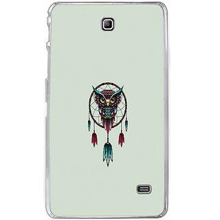 Casotec Owl Bird Dream Catcher Pattern Design 2D Hard Back Case Cover for Samsung Galaxy Tab 4 7 inch - Clear