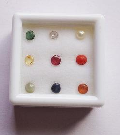 only4you Original Navratna (9) Gemstones (3mm app.) Of Nine Planets