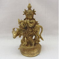 Lord Krishna With Cow Brass Statue,Religious God Idol For Pooja,Statue For Puja