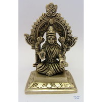 Laxmiji On Singhsan God Brass Statue,Religious God Idol For Pooja,Puja Statue - 2901028