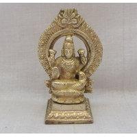 Laxmiji On Singhsan God Brass Statue,Religious God Idol For Pooja,Puja Statue