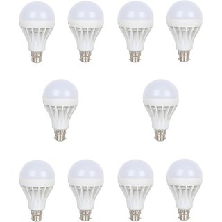 lasya lights  12 W LED Cool Day Bulb(White, Pack of 10)
