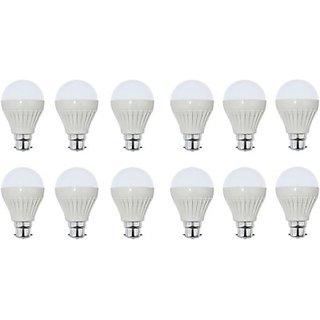 lasya lights  7 W LED Cool Day Bulb(White, Pack of 12)