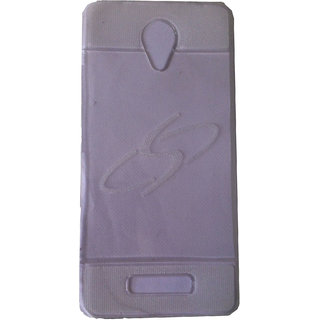 Platina Transparent White Back Cover For Lava Iris X1 Selfie