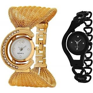 NEW TRUE COLORS COMBO OFFER GOLD  BLACK FANCY GIFT FOR SPECIAL Analog Watch - For Girls, Women