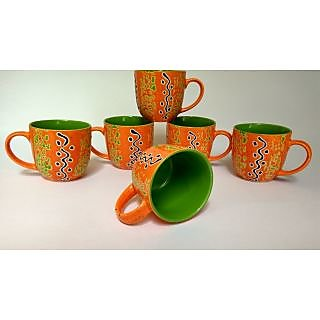 Stoneware Cups Set of 6