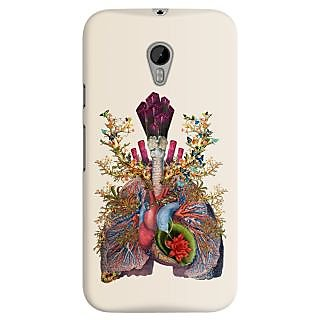The Fappy Store adore anatomical heart lungs collage Back Cover for Moto G3