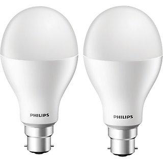 Philips 17 W LED Steller Bright Bulb(White, Pack of 2)
