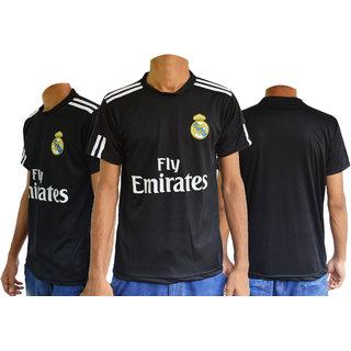 Real madrid Football Upper Half  sleeves jersey ( Black )