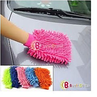 Car-Bike Cleaning Micro Fibre Glove set of 2