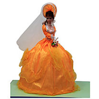 Musical Spinning Beautiful Doll Orange Color