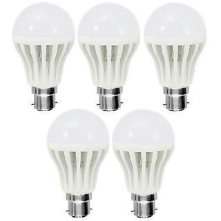 9W White LED Bulbs(Pack of 5)
