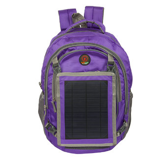 Sunlast L003 Purple Laptop Backpack With Solar Mobile Charger