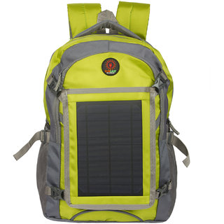 Sunlast L004 Yellow Laptop Backpack With Solar Mobile Charger