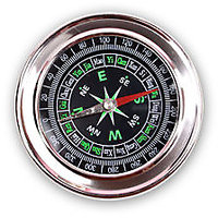 Pocket Magnetic Compass In Stainlesss Steel, Fengshui Vastu Compass