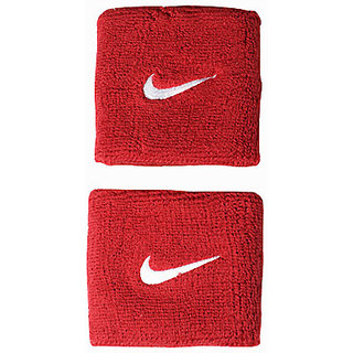 SPORTS WRIST BAND SUPPORTER SWEAT BAND RED COLOUR SET Of 2 PC